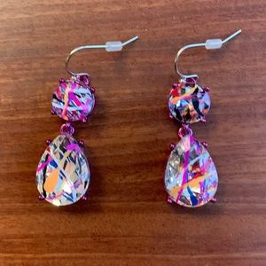 Multi Colored Gemstone Earrings (NWOT)